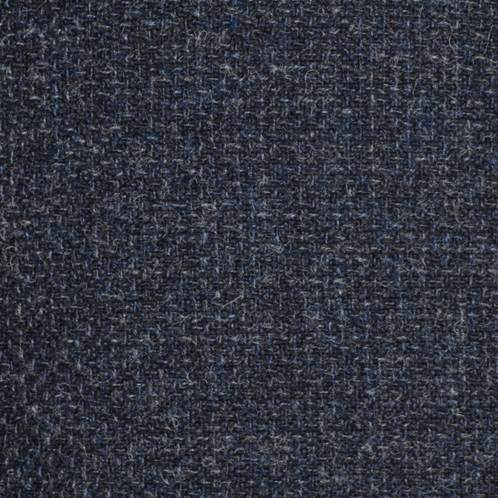 Medium Blue/Grey and Dark Blue Basket Weave Tweed - Sold Per Metre