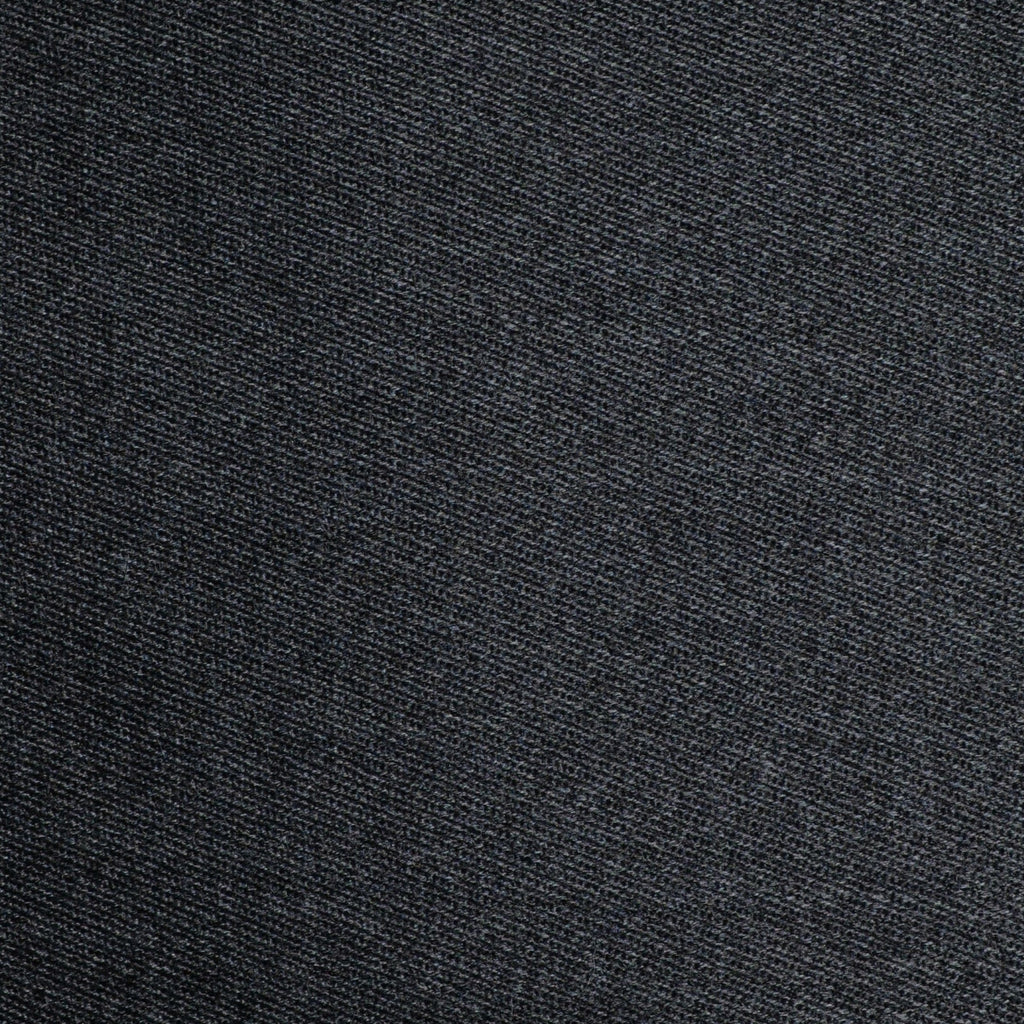 Dark Grey Cavalry Twill All Wool Suiting - Sold Per Metre