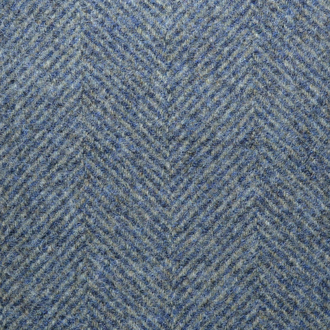 Blue with Blue Large Herringbone Suiting