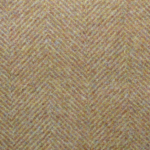 Beige & Tan Large Herringbone Coating