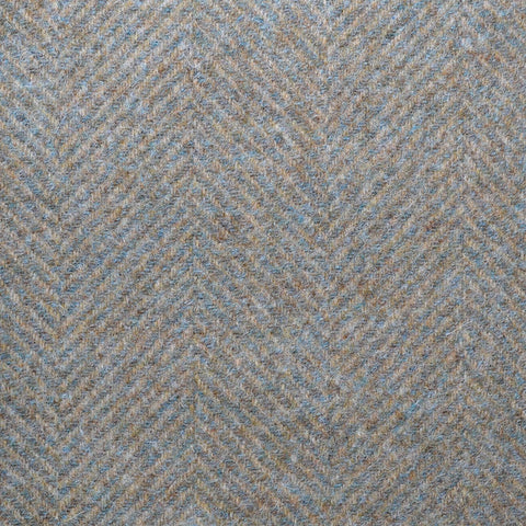 Green & Beige Large Herringbone Coating