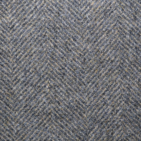 Grey & Beige Large Herringbone Coating