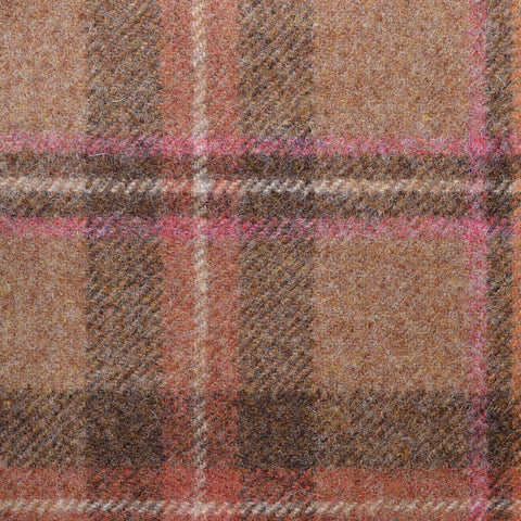 Brown with Pink Plaid Check Coating