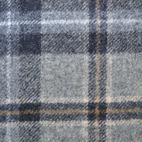 Grey with Grey & Beige Plaid Check Coating