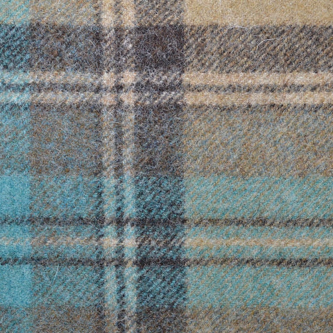 Grey with Blue Plaid Check Coating