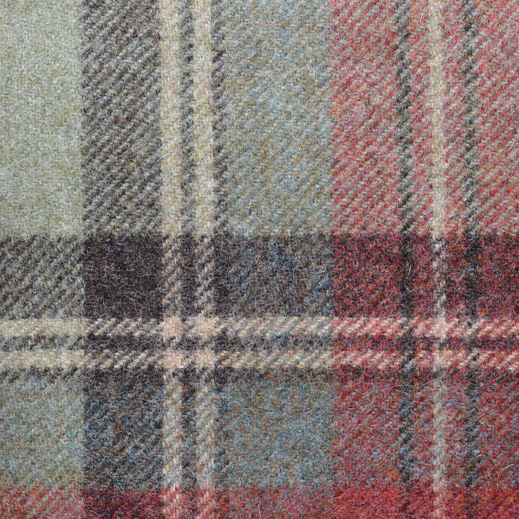 Grey with Red Check Plaid Coating