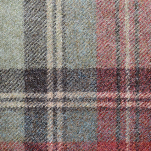 Brown Plaid Check Coating