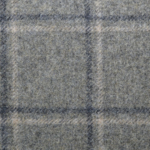 Grey with Grey Windowpane Check Coating