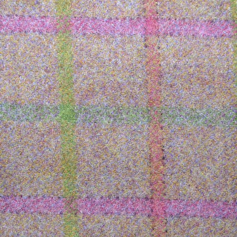 Brown with Green, Pink, Red & Lime Plaid Check Coating