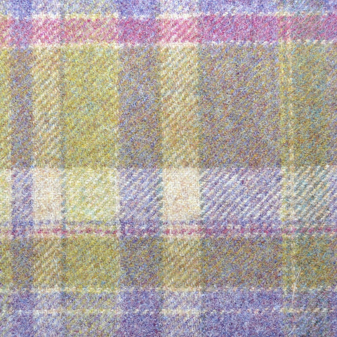 Oatmeal,Green Purple & Pink Plaid Check Coating