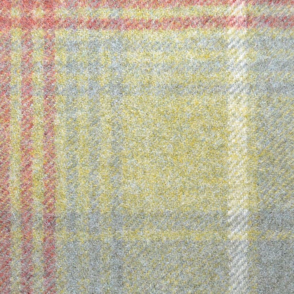 Green with Red & Blue Plaid Check Coating
