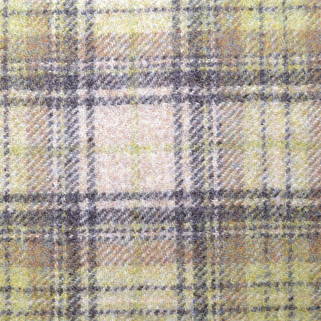 Beige with Green & Brown Plaid Check Coating
