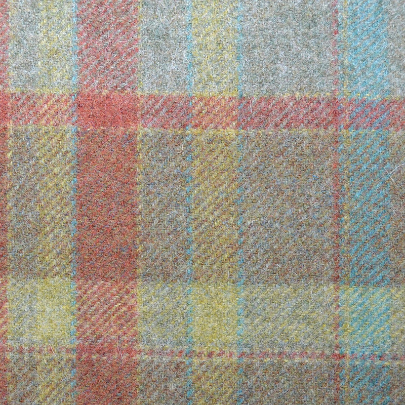 Green with Tan, Blue & Red Plaid Check Coating