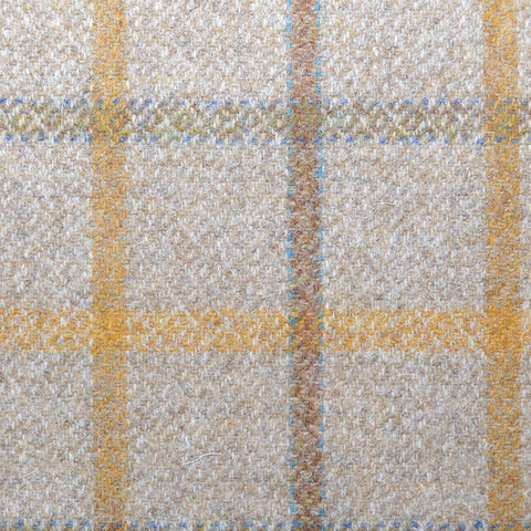 Beige with Brown & Tan Plaid Check Coating