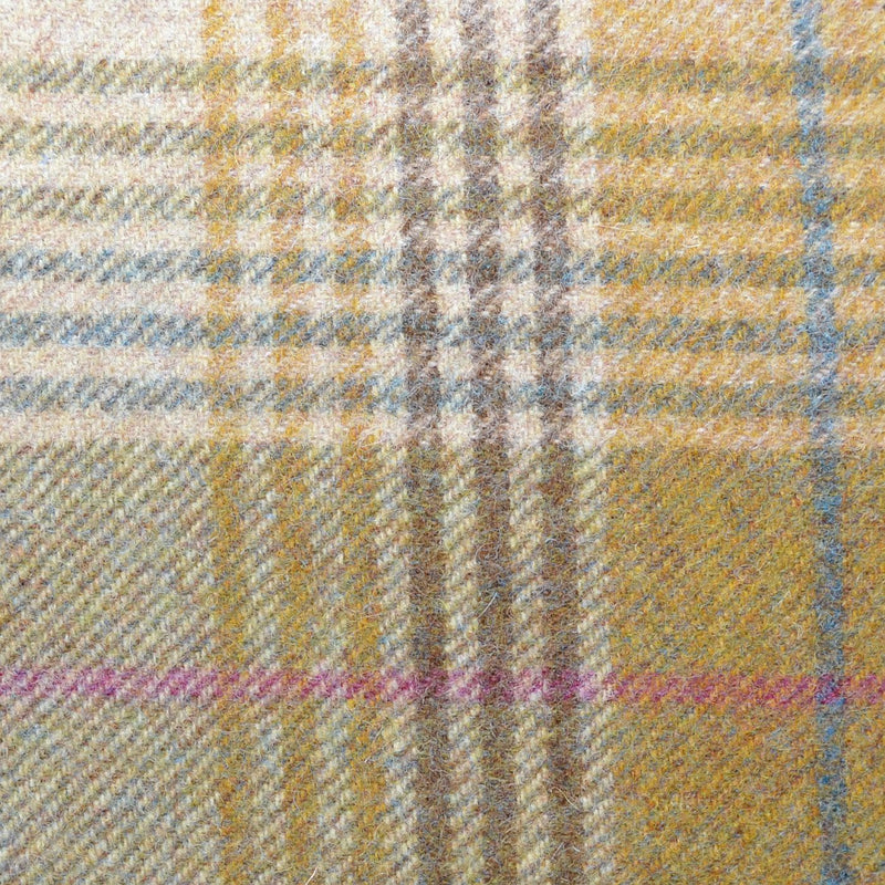 Sand with Brown, Blue & Pink Plaid Check Coating