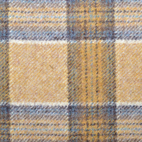 Tan with Brown Plaid Check Coating