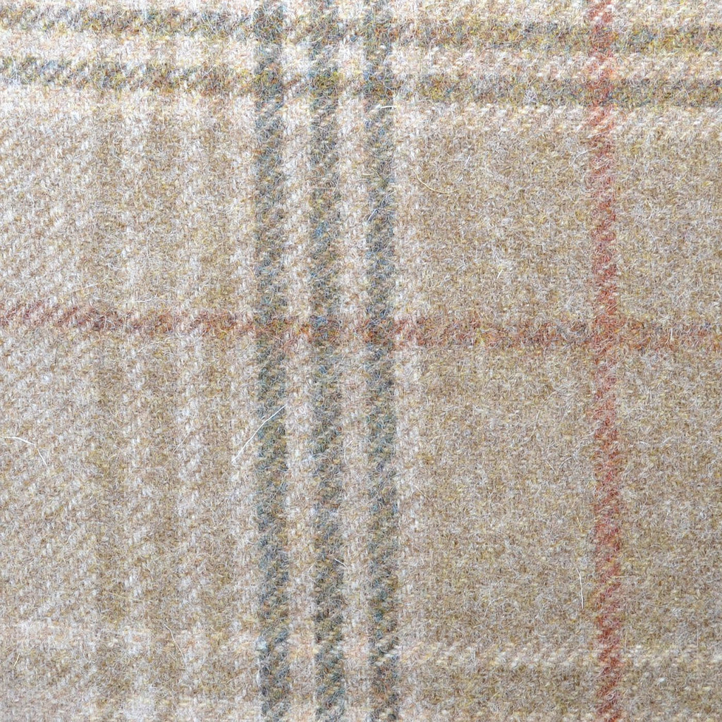 Beige with Brown Plaid Check Coating
