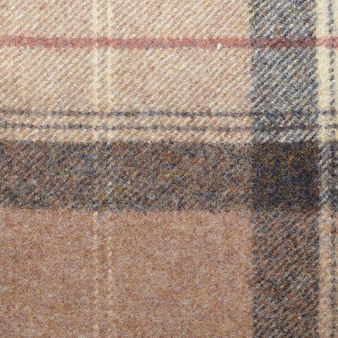 Brown with Cocoa & Cream Plaid Check Coating