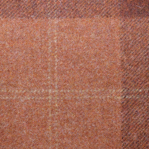 Red/Brown & Terracotta Plaid Check Coating