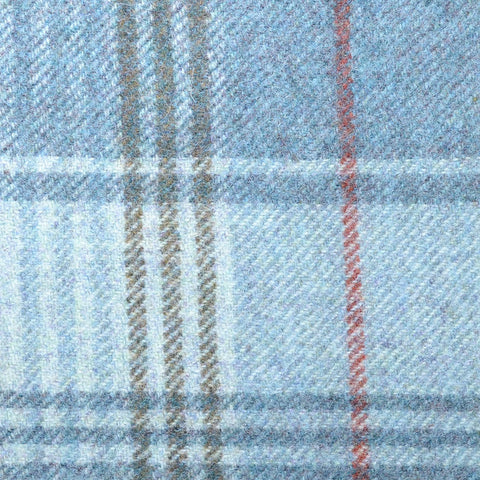 Blue with Blue, Green & Red Plaid Check Coating