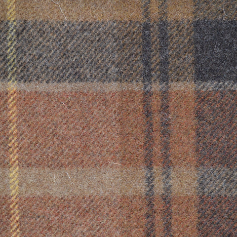 Ginger with Brown & Yellow Plaid Check Coating