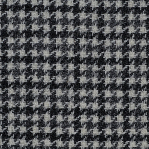 Grey & Dark Grey Dogtooth Check Tweed