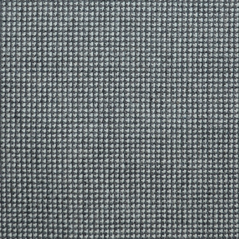 Grey and Moss Green Small Check Wool, Cotton & Cashmere