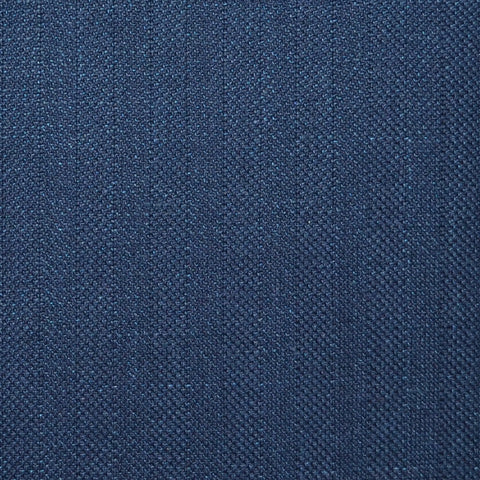 Bright Navy Blue and Dark Navy Blue Herringbone Wool & Linen