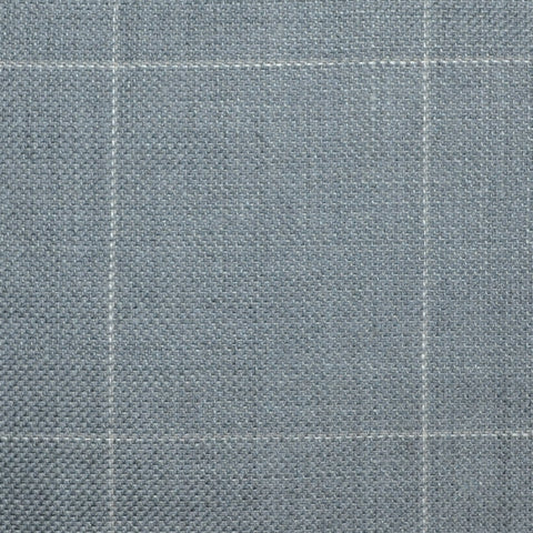 Medium Grey Pick and Pick with Cream & Tan Window Pane Check Wool & Linen