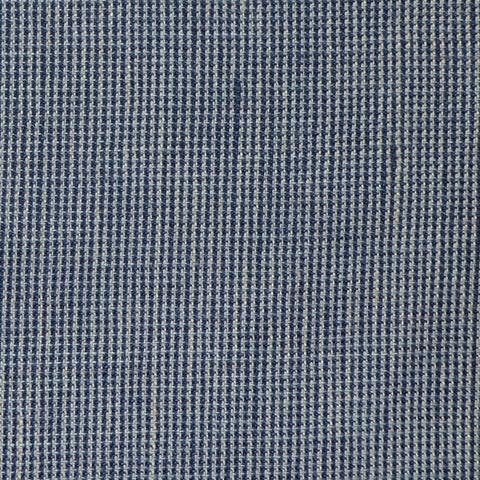 Navy Blue and Medium Grey Micro Check Wool & Linen