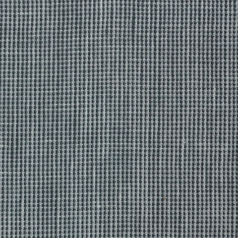 Light Grey and Dark Grey Micro Check Wool & Linen