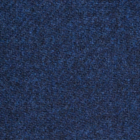Bright Navy Blue Marl Lambswool Tweed