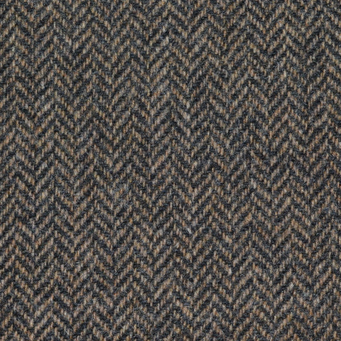 Brown Herringbone Lambswool Tweed
