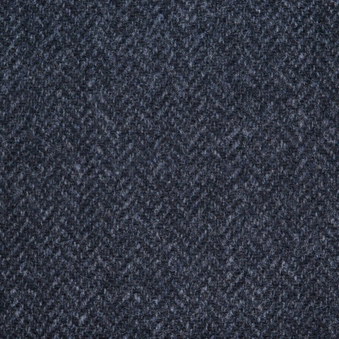 Dark Grey Herringbone Lambswool Tweed