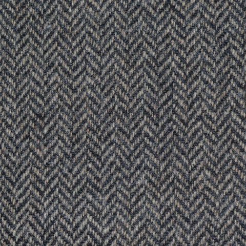 Smoke Grey Herringbone Lambswool Tweed