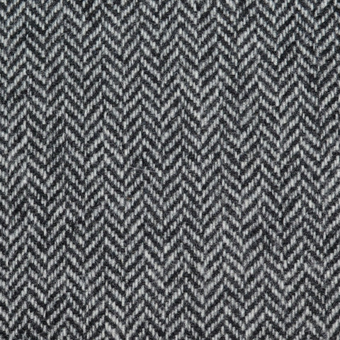 Light Grey Herringbone Lambswool Tweed