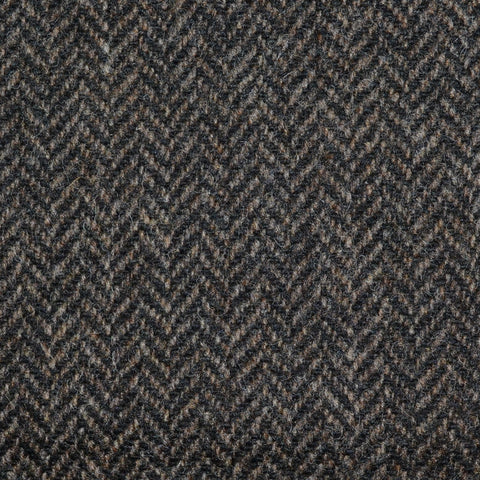 Brown/Black Herringbone Lambswool Tweed