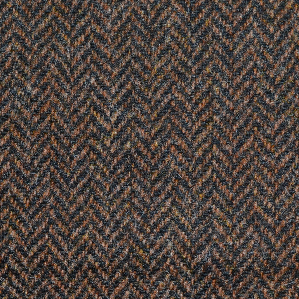Tobacco Herringbone Lambswool Tweed