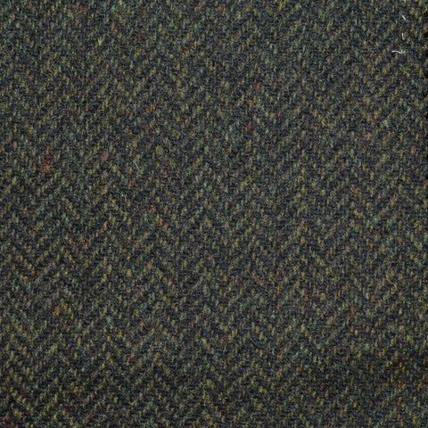Dark Green Herringbone Lambswool Tweed