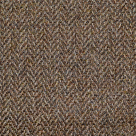 Light Brown Herringbone Lambswool Tweed