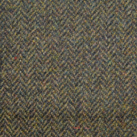 Brown/Green Herringbone Lambswool Tweed