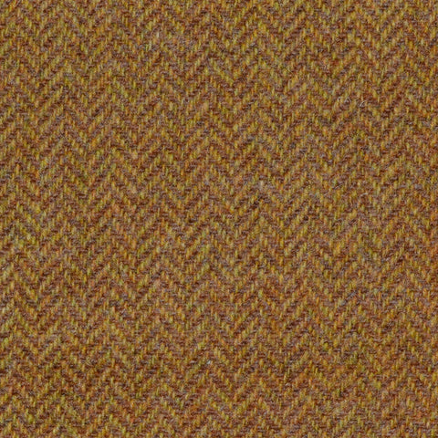 Tan Herringbone Lambswool Tweed