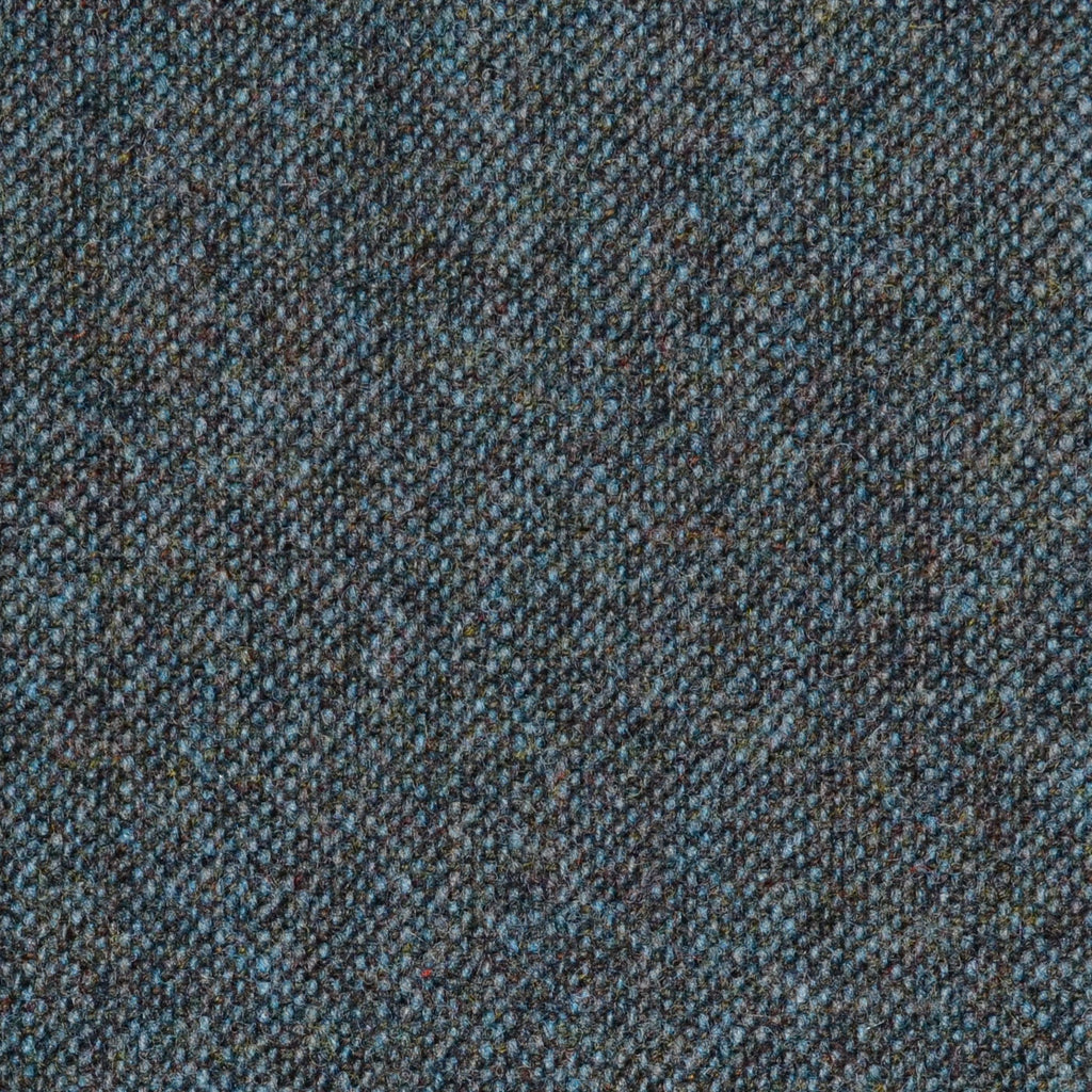 Dark Teal Donegal Lambswool Tweed