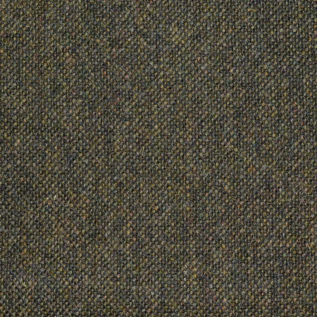 Olive Green Donegal Lambswool Tweed