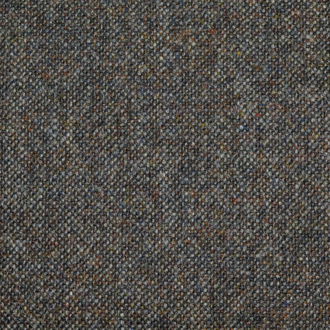 Dark Brown Salt & Pepper Donegal Lambswool Tweed