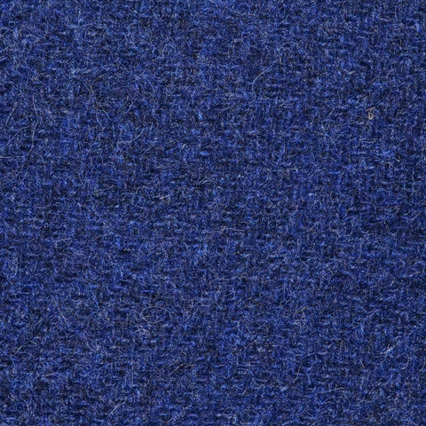Bright Navy Blue Marl Shetland Tweed