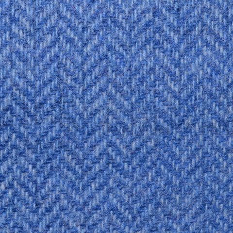 Light Blue Herringbone Shetland Tweed