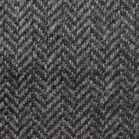 Grey/Brown Herringbone Shetland Tweed
