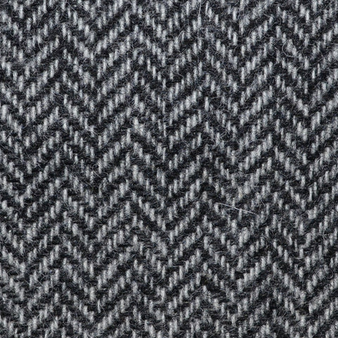 Light Grey Herringbone Shetland Tweed