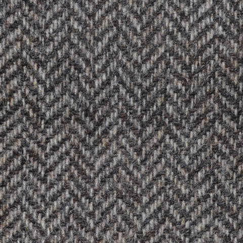 Natural Brown Herringbone Shetland Tweed